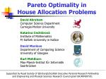 pareto optimality in house allocation problems