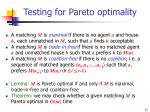 testing for pareto optimality11