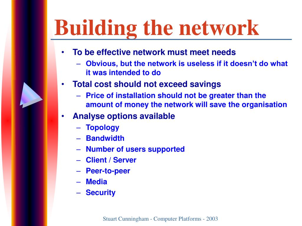 Building the network
