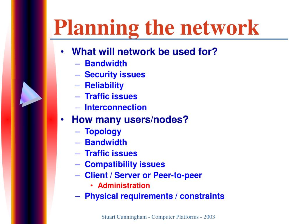 Planning the network