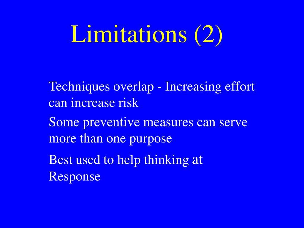 Limitations (2)