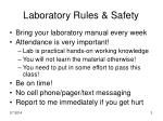 laboratory rules safety