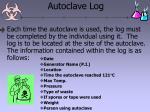 autoclave log