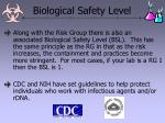 biological safety level