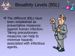 biosafety levels bsl