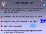 fume hood use