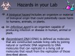 hazards in your lab25