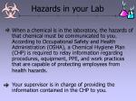 hazards in your lab33