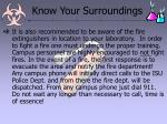 know your surroundings