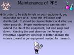 maintenance of ppe
