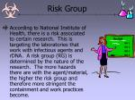 risk group
