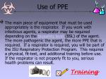 use of ppe70