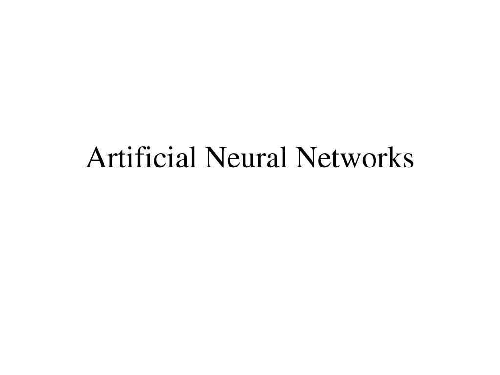 artificial neural networks l.