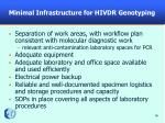 minimal infrastructure for hivdr genotyping