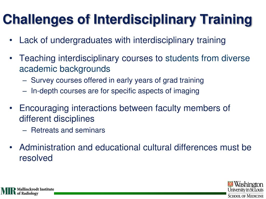 Challenges of Interdisciplinary Training