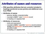 attributes of names and resources