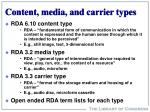 content media and carrier types
