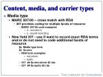content media and carrier types13