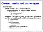 content media and carrier types14