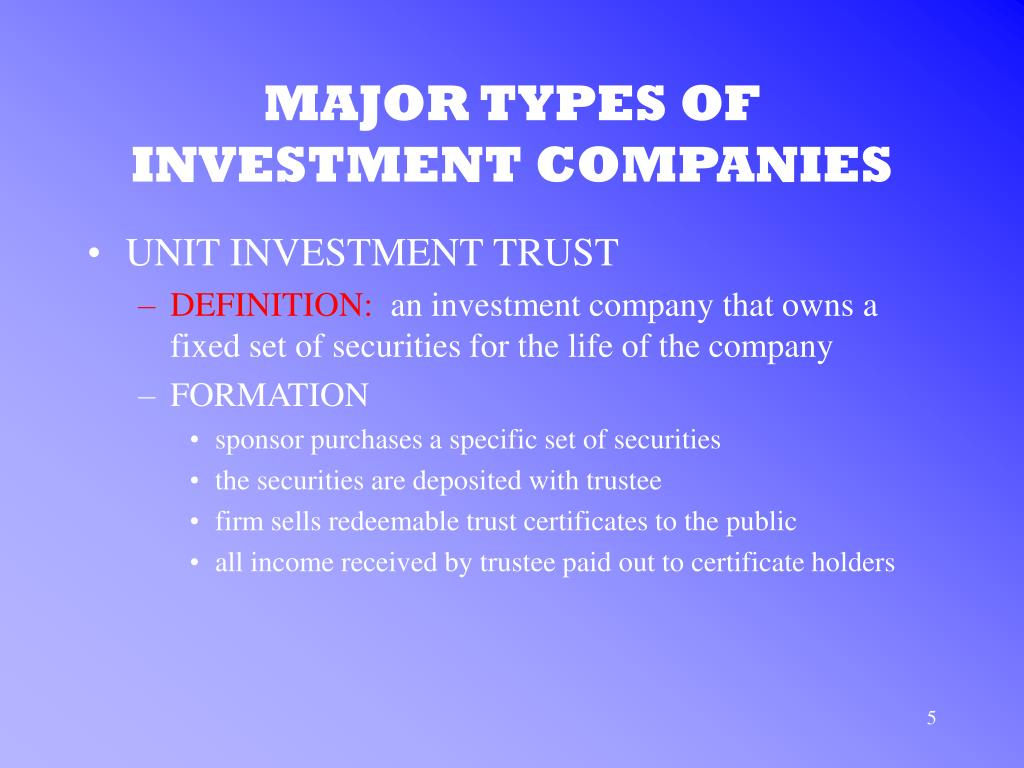 what are some investment companies