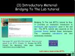 3 introductory material bridging to the lab tutorial