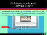 3 introductory material technique modules23