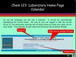 chem 123 laboratory home page calendar