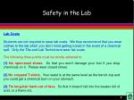 safety in the lab7