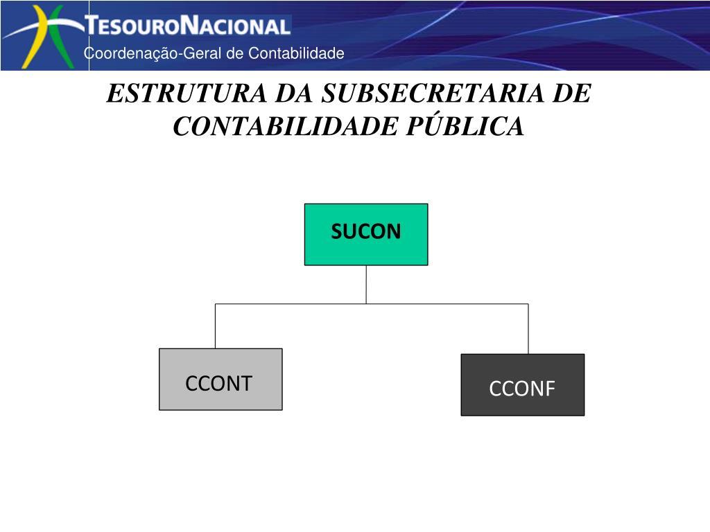 estrutura da subsecretaria de contabilidade p blica l.
