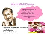 about walt disney