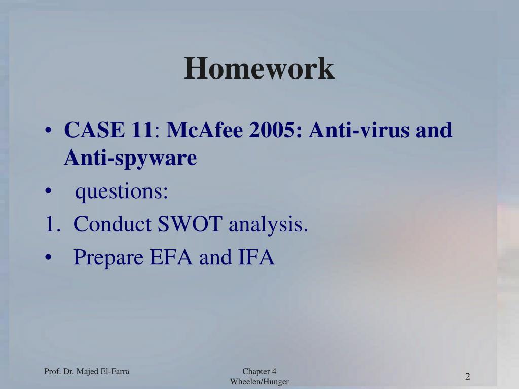 homework case
