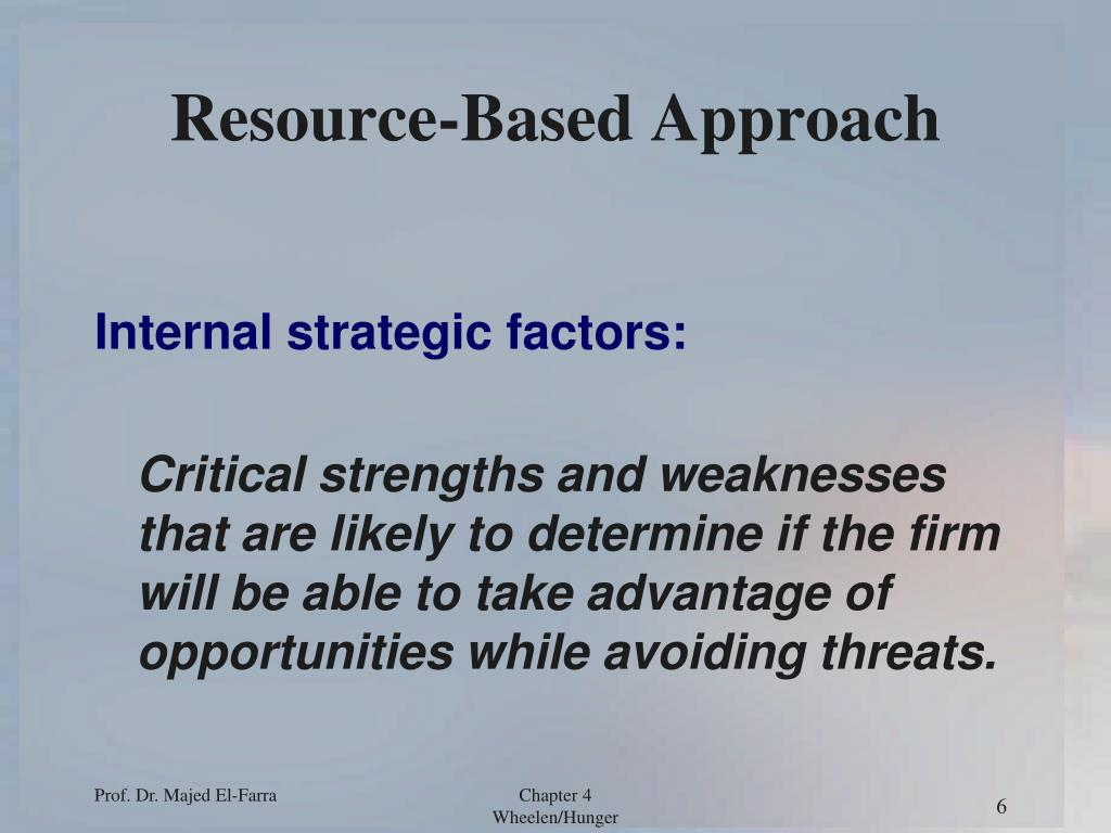 resource based view approach