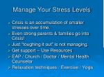 manage your stress levels