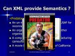 can xml provide semantics