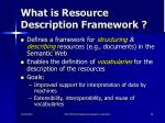 what is resource description framework
