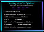 spelling with c le syllables10