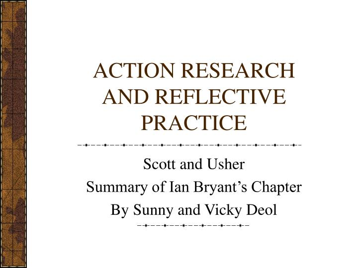 action research and reflective practice n.