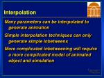 interpolation
