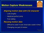 motion capture weaknesses64