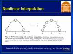 nonlinear interpolation