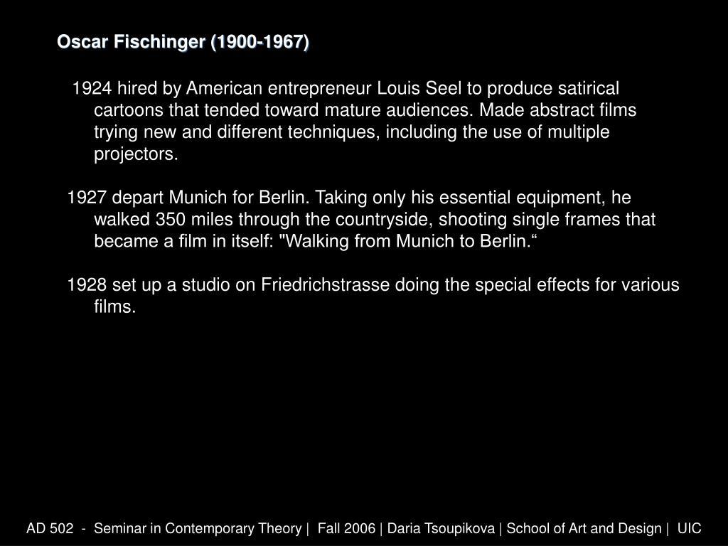 Oscar Fischinger (1900-1967)