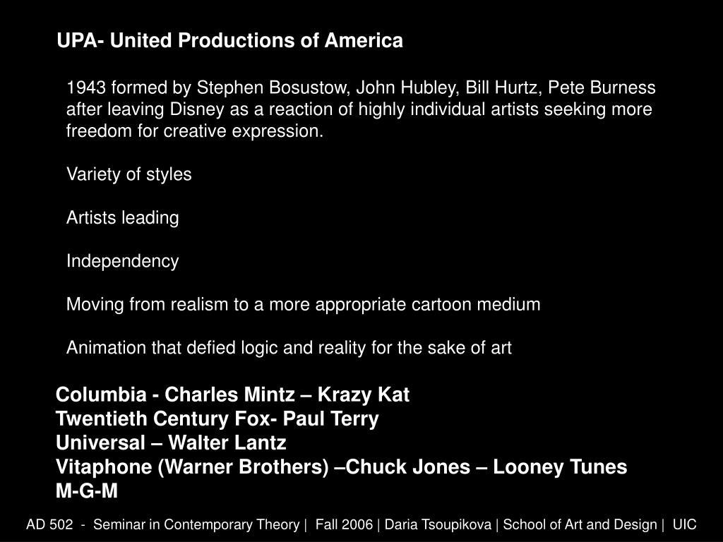 UPA- United Productions of America
