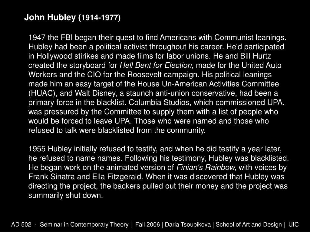 John Hubley (