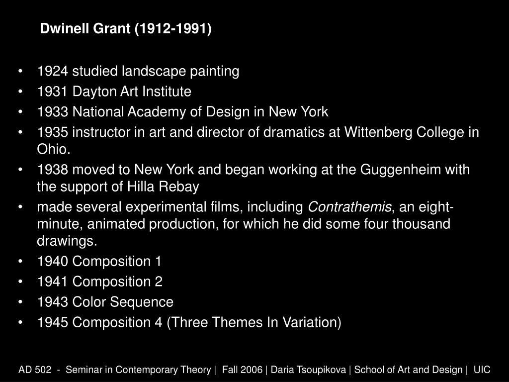Dwinell Grant (1912-1991)