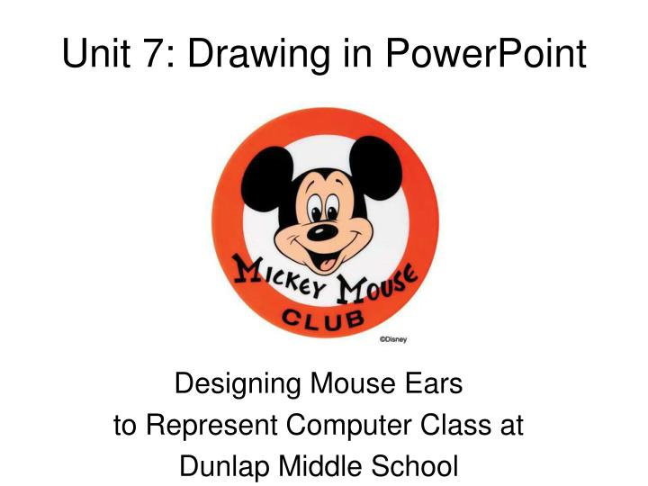 Unit 7 drawing in powerpoint