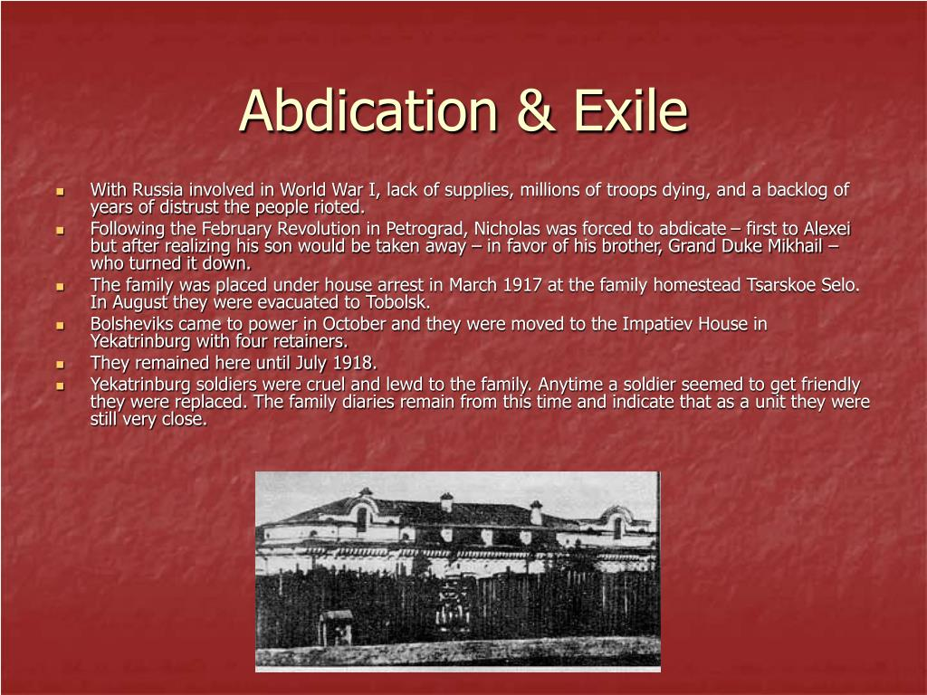 Abdication & Exile