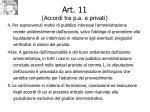 art 11 accordi tra p a e privati92