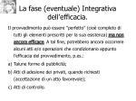 la fase eventuale integrativa dell efficacia
