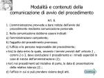 modalit e contenuti della comunicazione di avvio del procedimento