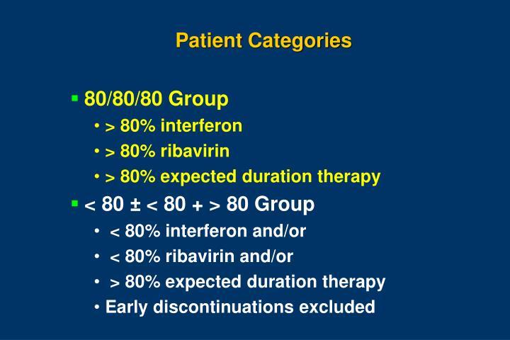 Patient Categories